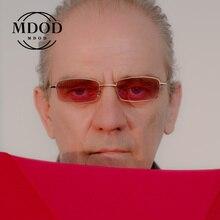 Men Women brand designer Small Retro Shades Rectangle Sunglasses Colorful UV400 Metal Frame Clear Le
