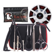 8 in 1 Prebuilt Coil with Vape Cotton Electronic Cigarette Organic Cotton Heating Wire Bacon Kendo C