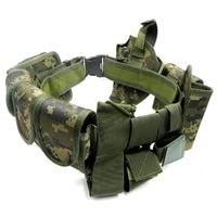 10 outdoor multifunctional tactical belts mens army oxford belt hiking safety tactical suit armed safety belt cs set