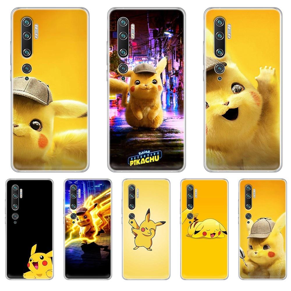 Pokemon Pikachu de silicona cubierta de la cáscara transparente funda de teléfono para XIAOMI mi 3 4 5 5X 8 9 10 se max pro a2 9T note lite