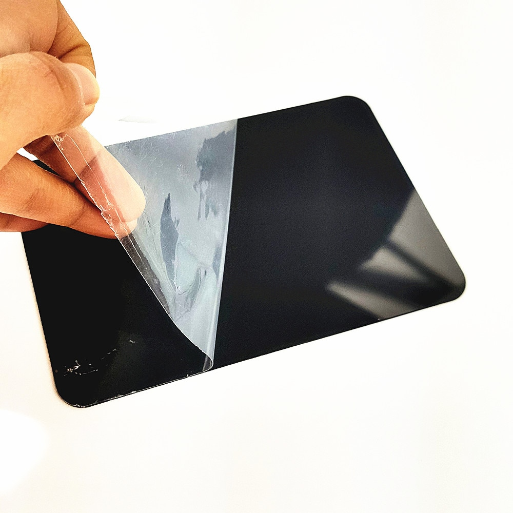 Plastic PVC Card Rewritable Board A4 A5 A6 in Black Reuse Wipe Cleanable Store Price Advertising Promotion 10pcs