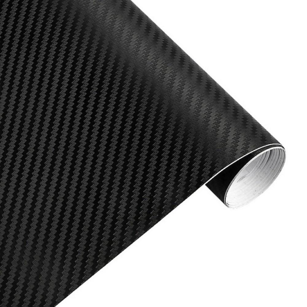30cmx127cm 3D Carbon Fiber Vinyl Car Wrap Sheet Roll Film Car stickers and Decals Car Styling Accessories Automobiles
