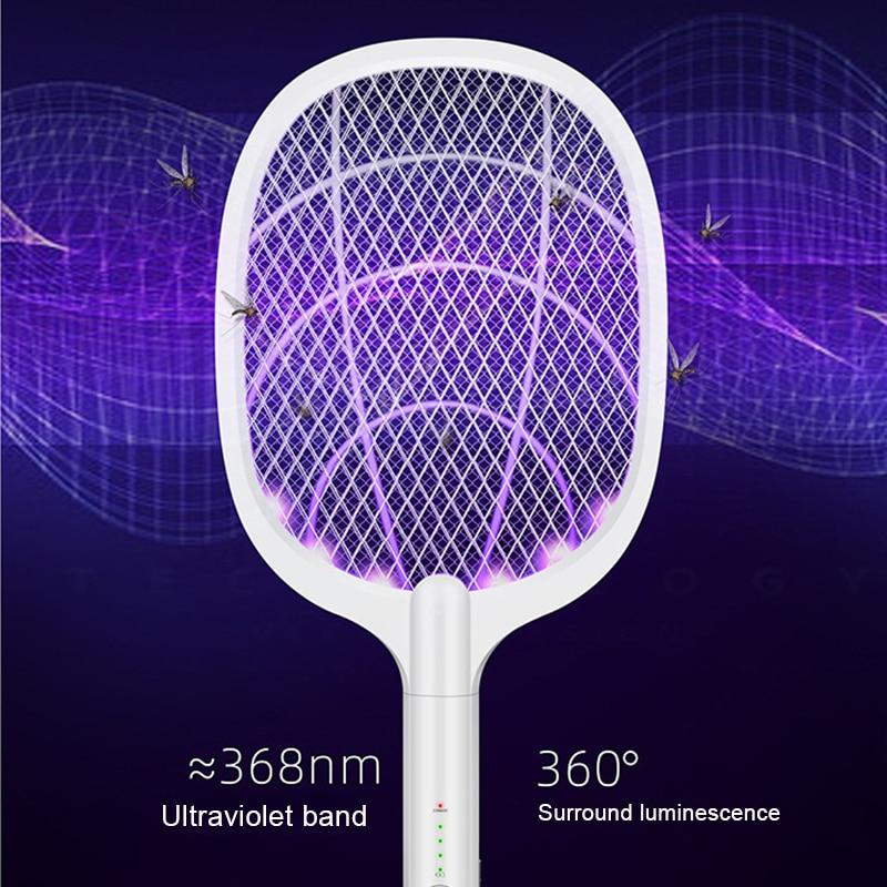 3000V električno ubojica komaraca s UV lampom USB 1200mAh baterija - Vrtni proizvodi - Foto 4