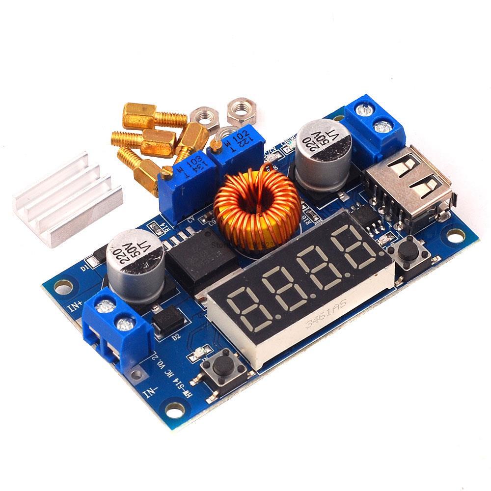 DC-DC XL4015 5A unidad LED Digital módulo para cargador de batería CC/CV convertidor reductor USB Buck con voltímetro amperímetro