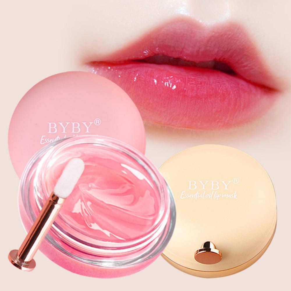 Plant Extract Repair Propolis Rose Essential Oil Lip Sleeping Mask Night Nourishing Moisturizing Remove Dead Skin