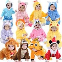 Barboteuse bébé dessin animé   Combinaison hiver, pour bébé garçon fille, Costume bébé Panda Pijama roupa de bébé