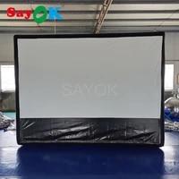 Ecran de Projection gonflable  bon marche  pour jeux de piscine  cinema a domicile