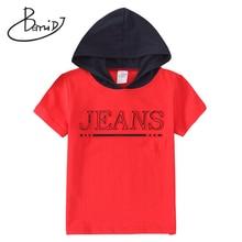 BEMIDJ T-shirt manches courtes garçon   Col à capuche, en coton