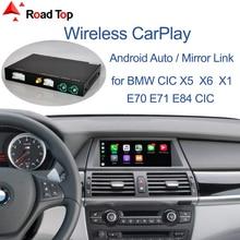Беспроводная система CarPlay для BMW CIC X5 E70 X6 E71 2011 2013 X1 E84 2009 2015, с функцией Android Mirror Link AirPlay Car Play