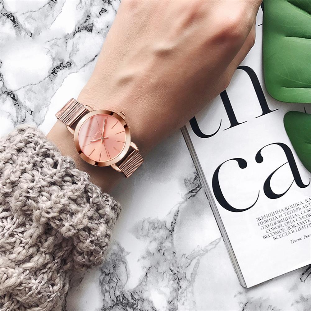 OLMECA Women's Business Wrist Watch Water Resistant Quartz Watches Fashion Mesh Band Drop-Shipping Women Watches Reloj Mujer enlarge