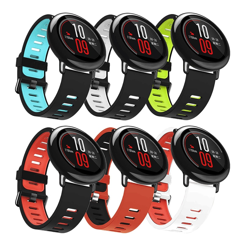 Sports Silicone Wrist Strap bands for Xiaomi Huami Amazfit Bip BIT PACE Lite Youth Smart Watch Replacement Band sports silicone wrist strap bands for xiaomi huami amazfit bip bit pace lite youth smart watch replacement band