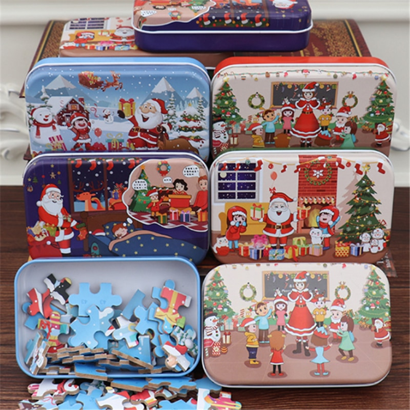 Фото - Christmas Diy Gift 60 Pieces Of children's Handmade Santa Puzzle Wooden Christmas Puzzle Gift Рождественский пазл fennell clare santa s 12 days of christmas