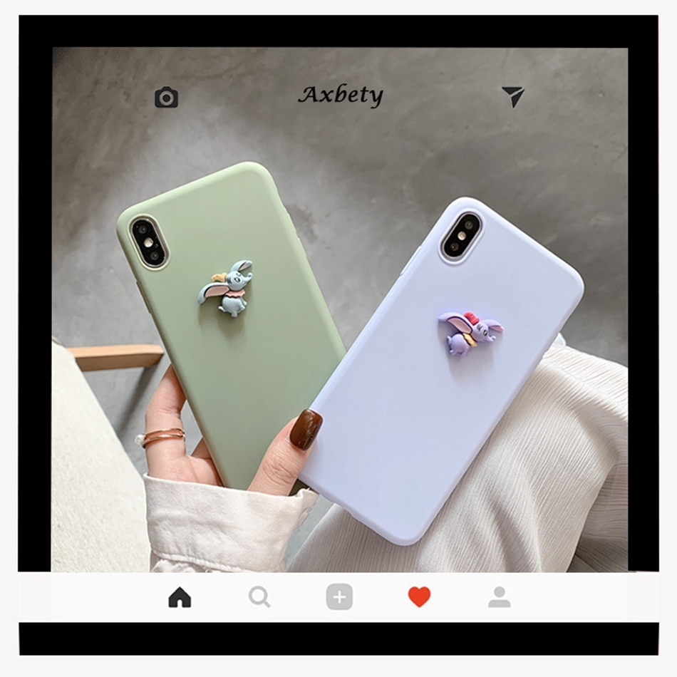Funda 3D para Samsung Note 10 Plus S20 Ultra, bonita funda DIY con dibujos de elefante para Galaxy S8 S9 S10 Plus S10E A81, funda de silicona suave
