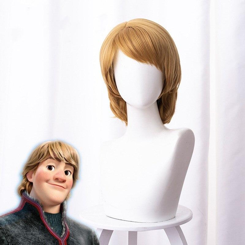 Anime 2cos christopher mista marrom cabelo curto cosplay peruca 35cm