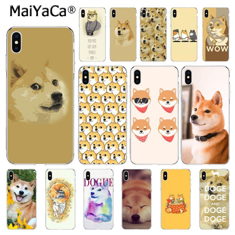 MaiYaCa, carcasa de teléfono Shiba Doge Brushwood para iphone 11 Pro 11Pro MAX 5 5Sx 6 7plus 8 8Plus X XS MAX XR Capa