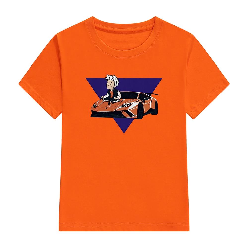 Children's 100% Cotton T Shirts Merch A4 Lamba Print Casual Family Clothing Set boy's & girl's Fashi