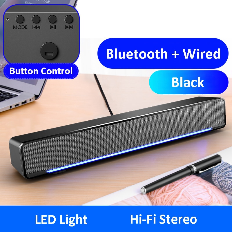 Barra De sonido LED Para TV, altavoz con Bluetooth, Para PC, ordenador,...