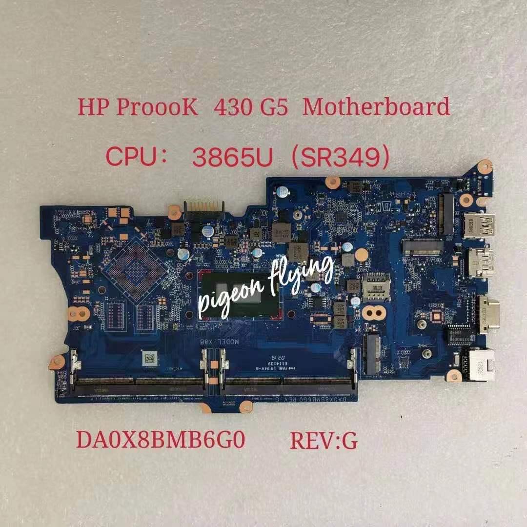 Placa base para ordenador portátil HP ProBook 430 G5 Mianboard CPU 3865U...