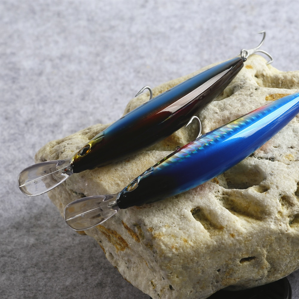 Le fish 90mm 25g 110mm 35g Heavy Minnow lure Laser Hard Professional Seawater Long casting lure Sinking Fishing Lure