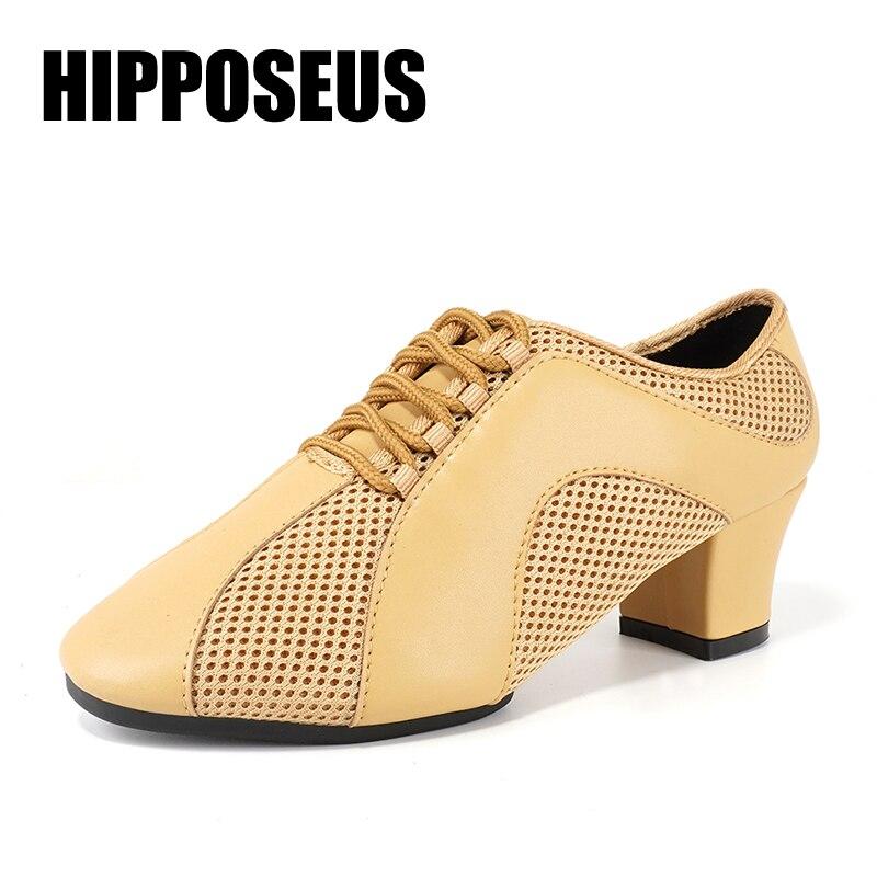 Hipposeus 5CM Heels Dance Shoes Summer Ballroom Latin Dance Shoes For Women Ladies Girls Jazz Tango Dancing Shoe Salsa Wholesale