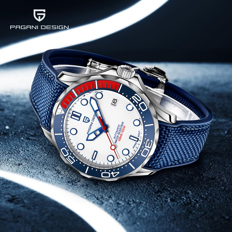 PAGANI DESIGN Mechanical Watches Mens 007 Commander Top Brand Luxury Automatic Watch Men Sport Stainless Steel Clock Japan NH35 pagani design new 007 commander men s mechanical watches top brand luxury watch men 100m automatic waterproof fashion wristwatch