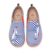 uin womens casual painted ocean series walking slip on lightweight comfortable canvas fashion sneakers
