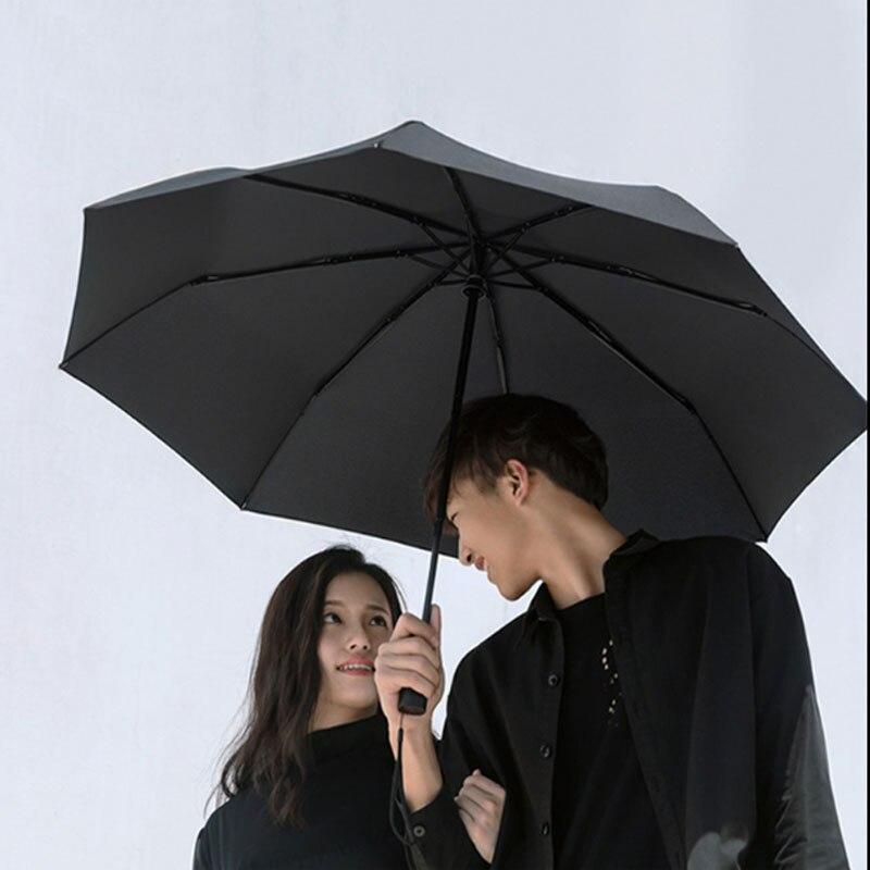 Moda Xiaomi Mijia Mini paraguas al aire libre automático SOL/lluvia impermeable a prueba de viento UV Light hombre mujer parasol de bolsillo