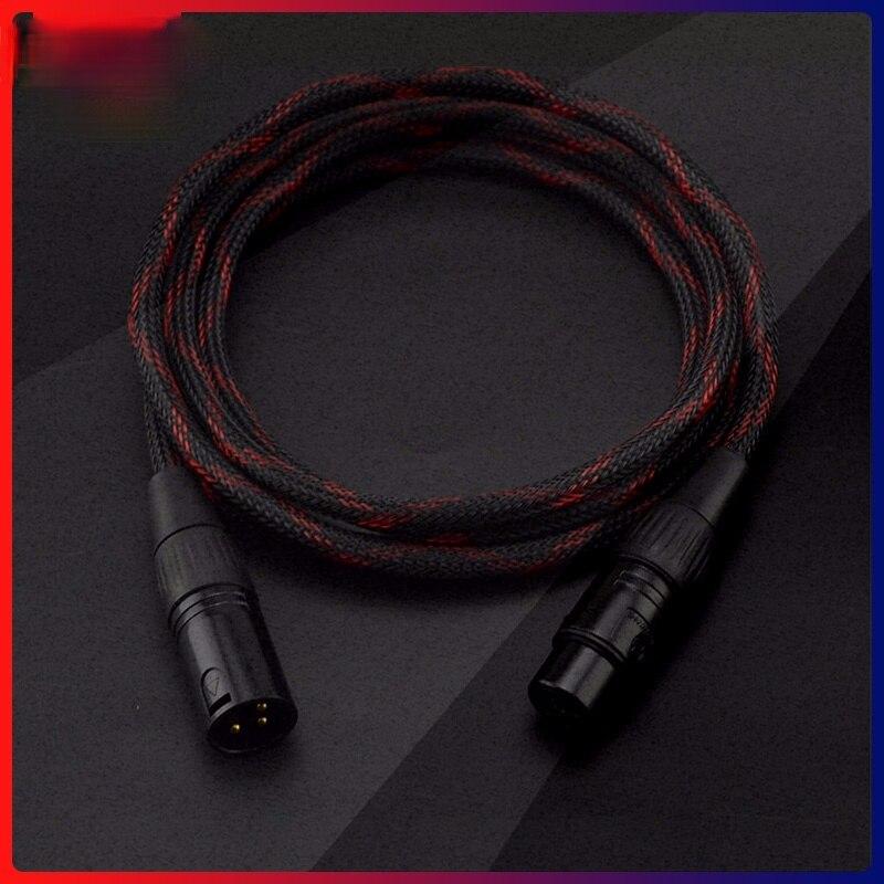 Cable de extensión Hifi XLR para amplificador de altavoz, Cable equilibrado XLR...