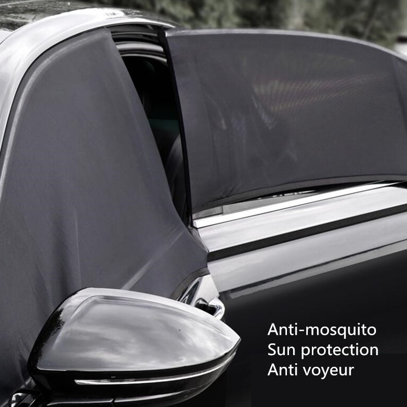 Car Sun Shade Side Window Sunshade Cover UV Protect perspective mesh Velcro Universal car accessorie