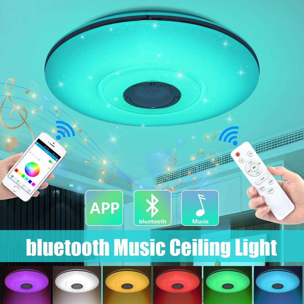 Заподлицо Smart Led потолочный светильник Bluetooth Домашний Светильник ing APP bluetooth Музыка лампы Смарт потолочный светильник + пульт дистанционного ...