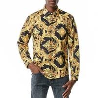 Chemise royale de luxe pour hommes  coupe ajustee  manches longues  imprime Paisley  soiree de bal