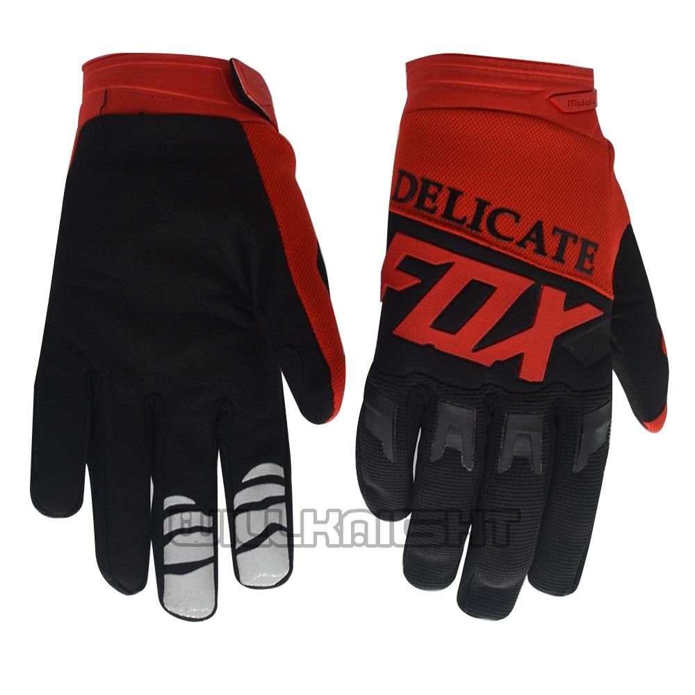Black Red Delicate Fox Dirtpaw Racing Glove Motocross Motorbike Street Moto Enduro Gloves