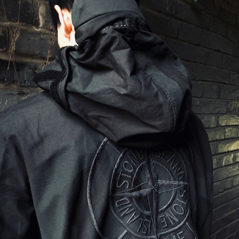 Stone Island tide brand joint camouflage functional tactical tooling jacket and assault jacket men a
