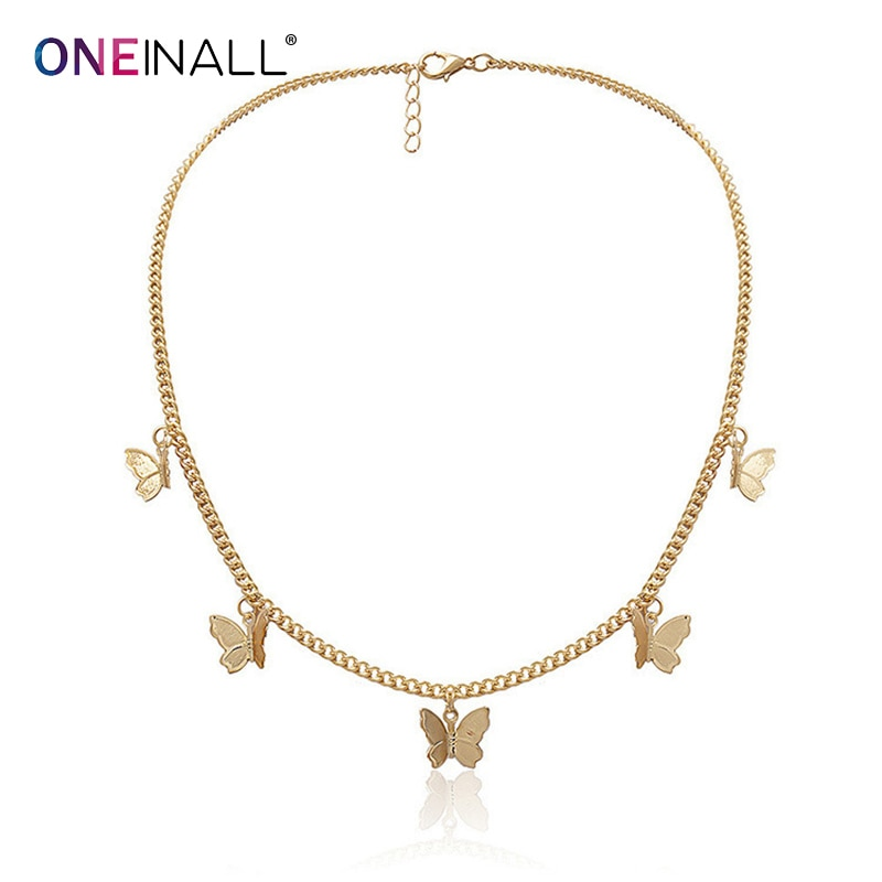 oneinall-evening-party-women's-neckless-alloy-gold-accessories-beautiful-butterfly-necklace-womens-accessories-2021-fashion-new