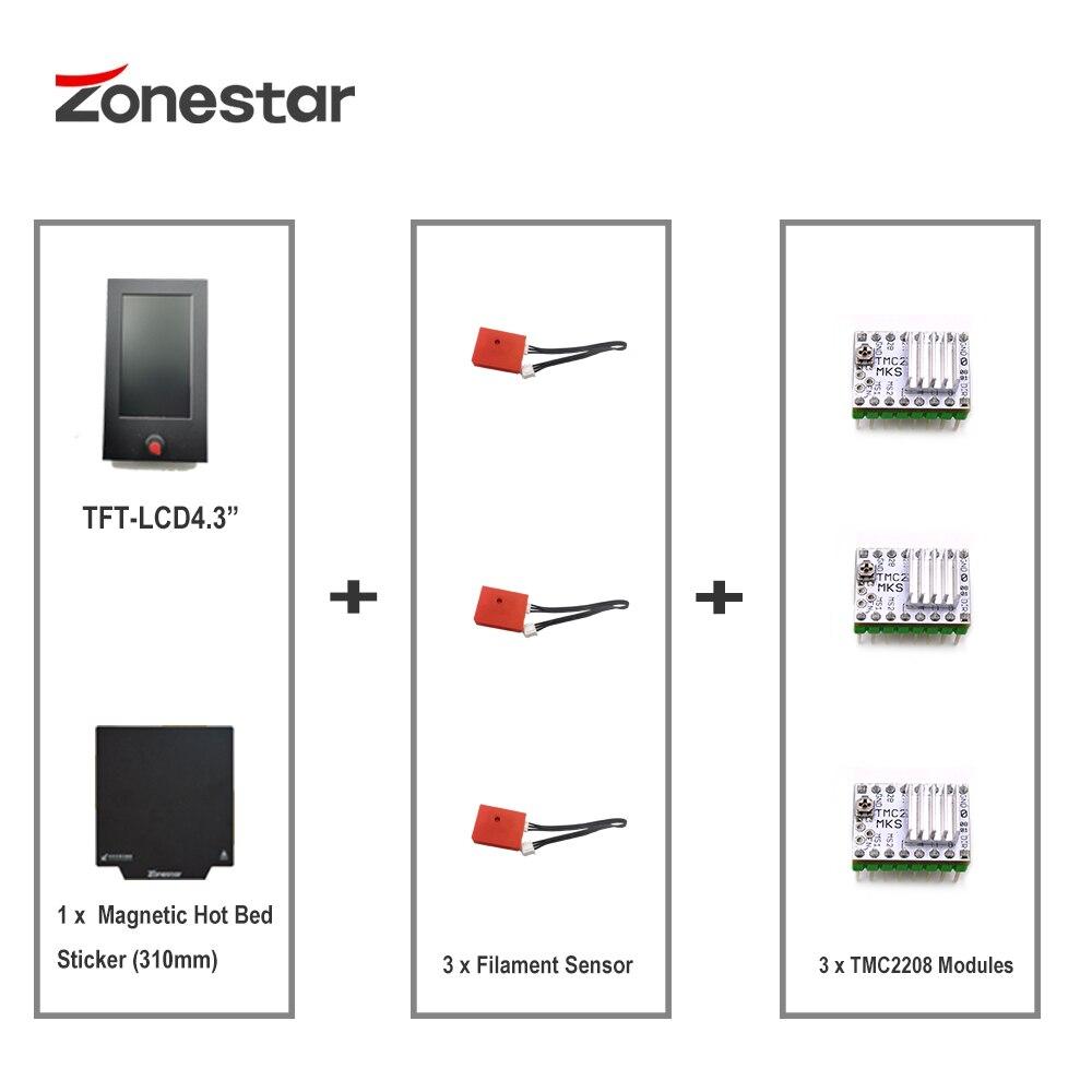 Z9M3 ترقية أجزاء TFT-LCD + 3xTMC2208 3x خيوط الاستشعار 1x المغناطيسي الساخن السرير StickersZ8T