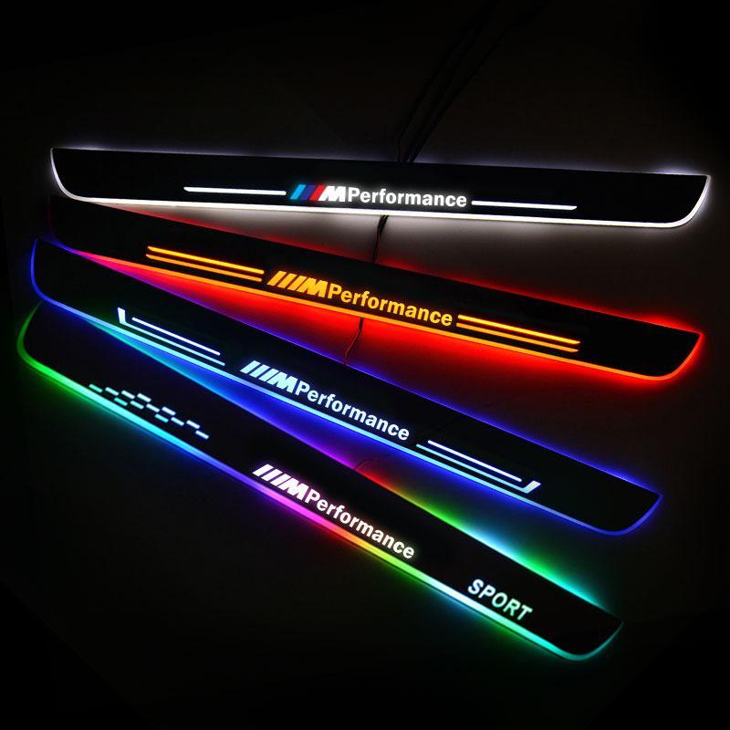 Umbral de puerta LED para BMW 1 Series E81 E82 E87 E88 2006 -2013, placa de desgaste para puerta, umbral de Pedal, luz de bienvenida, accesorios para coche