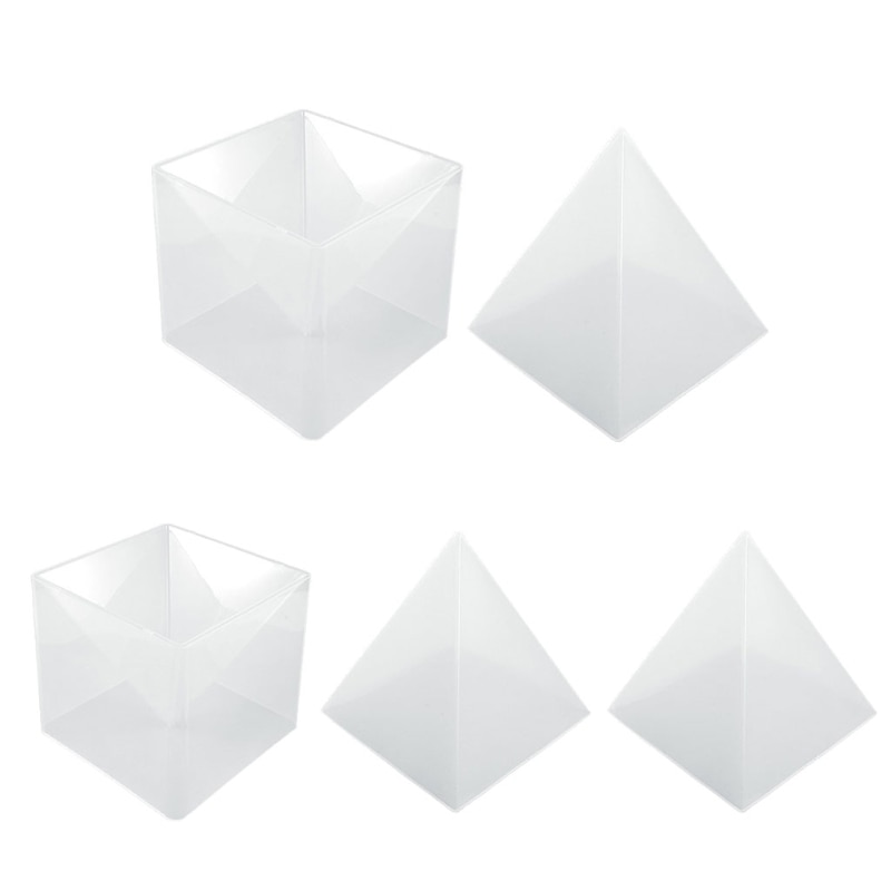 Super Large DIY Pyramid Resin Mold Set Large Silicone 3D Pyramid Molds Jewelry Making Mould Tools Home Decor 15cm/5.9