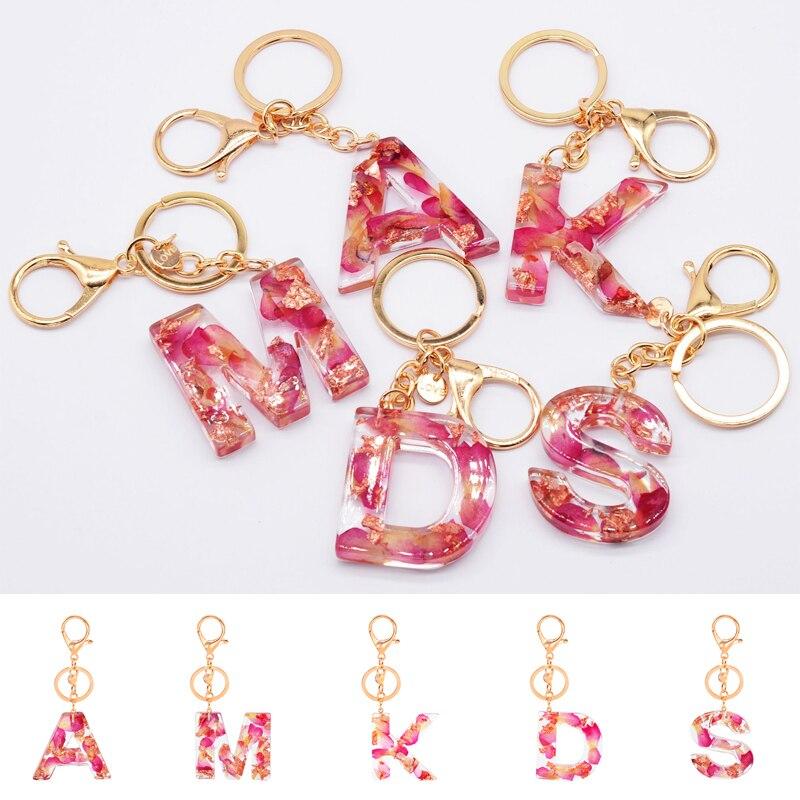 С симпатичными машинками акриловый блеск брелок держатель очарование мешок пара сумка подарки подвеской в виде буквы, брелки для ключей, см...