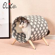 Nid de chat de cylindre confortable de Style à la maison avec la planche à gratter de chat de Sisal avec le coussin de Sisal