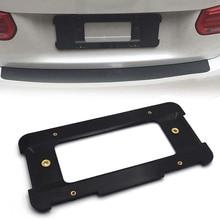Suporte de quadro da placa de licença traseira do carro universal preto suporte base da placa de licença para o número da ue suporte + chave kit