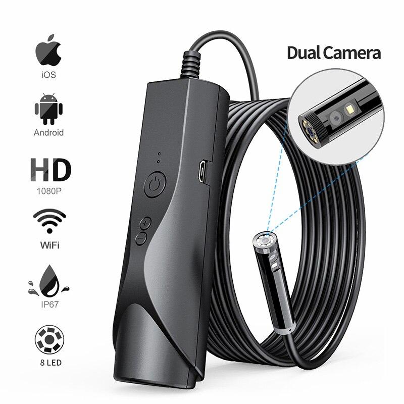8mm wifi endoscopio camera ip67 a prova dip67 agua wifi borescope 1080p hd camera