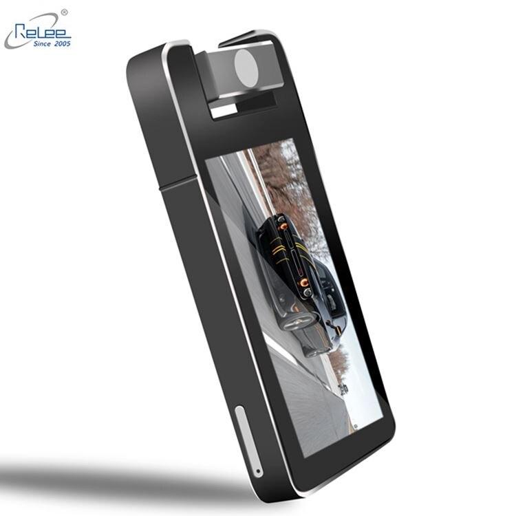 كاميرا سيارة ثنائية العدسة نظام مرآة خفية 360 عرض 2K Fhd سجل الوزن استقرار داخل بقعة عمياء ث/التحكم الصوتي في جهاز تسجيل فيديو رقمي للسيارات