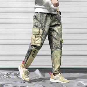Брюки-карго мужские эластичные, хлопковые армейские штаны в стиле милитари, много карманов, камуфляжные брюки, стиль хип-хоп, джоггеры