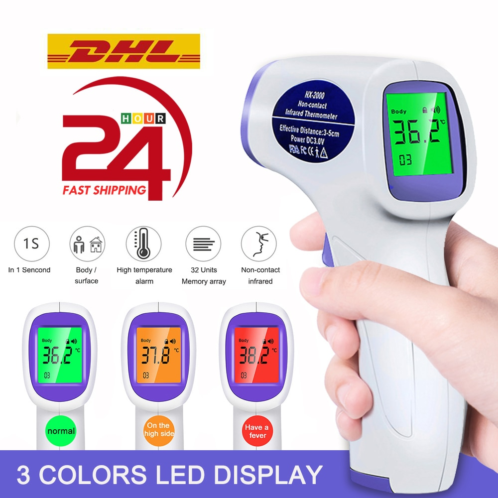 Non-Contact Infrared Thermometer IR Digital Forehead Ear Fever Electronic Laser Body Temperature Home Outdoor Baby Adult non contact infrared thermometer digital forehead home outdoor handheld laser body temperature fever ear baby adult
