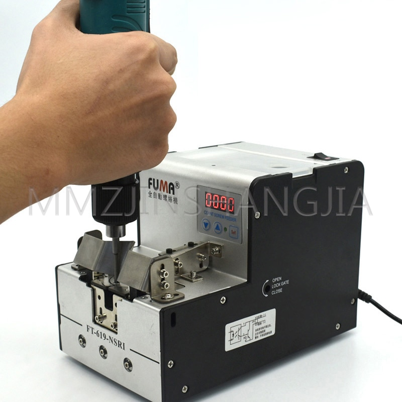fa 580 baterpak precision automatic counting screw feeder screw counter automatic screw dispenser with buzzer alarm Digital Dsplay Turntable Screw Machine Fully Automatic Screw Arrangement Hand Model Feeder Round Head Countersunk Self-Tapping