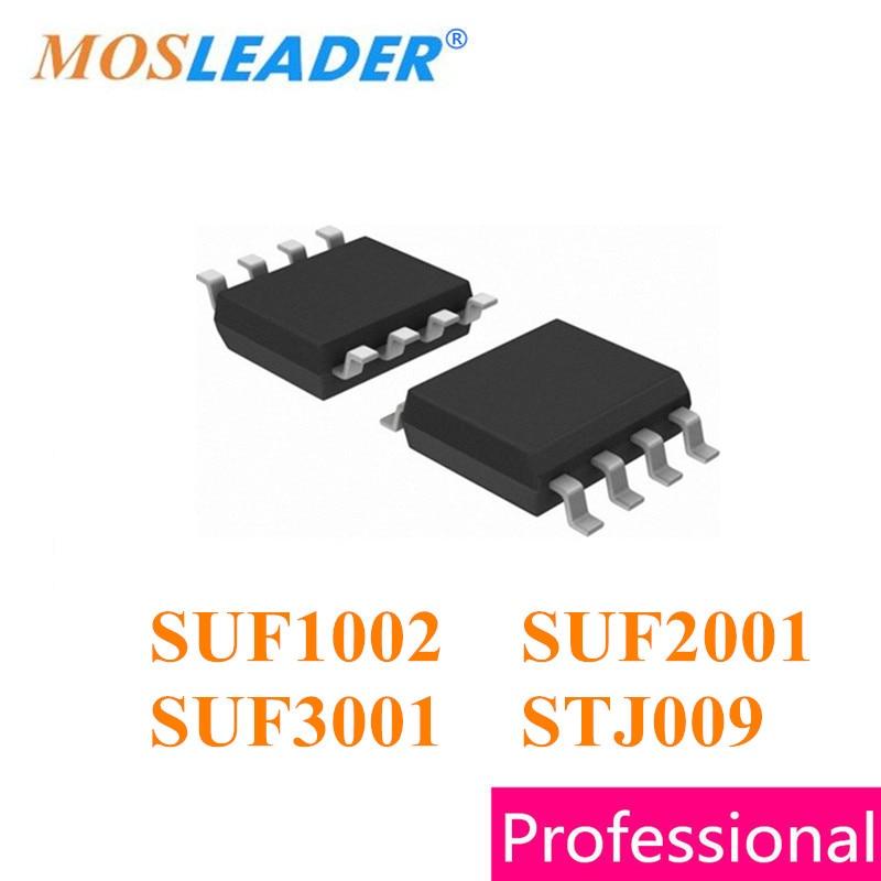 Mosleader SUF1002 SUF2001 SUF3001 STJ009 SOP8 100 قطعة 30V عالية الجودة Mosfets