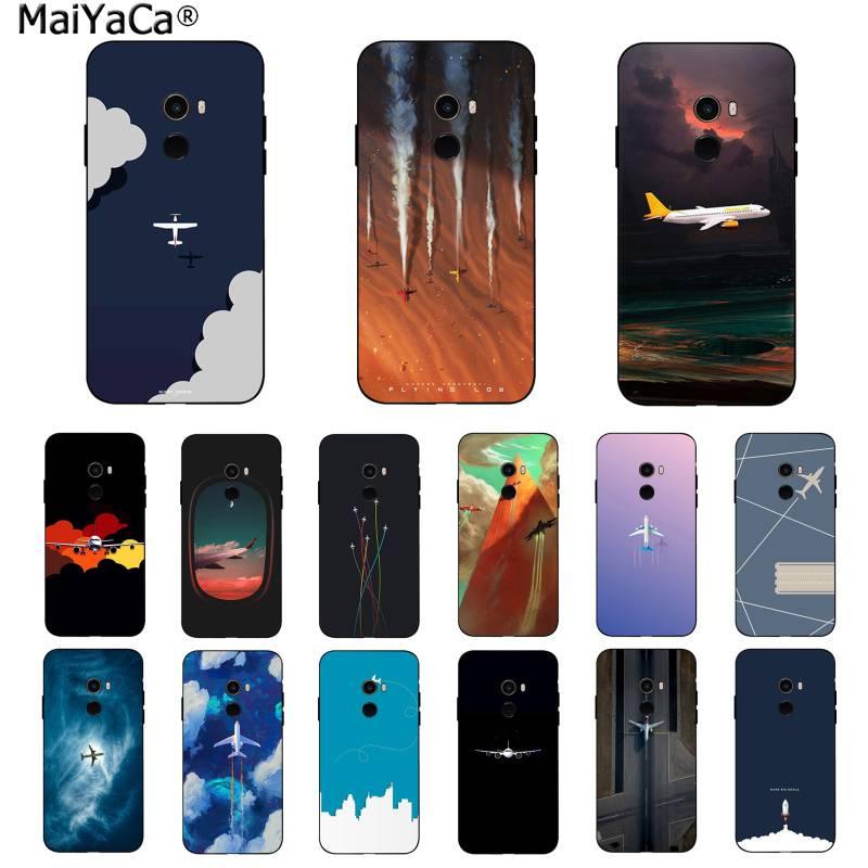 MaiYaCa Travel plane cabin Black TPU Soft Phone Case Cover for Xiaomi 8 9 se Redmi 6 pro 6A 4X 7 note 5 7