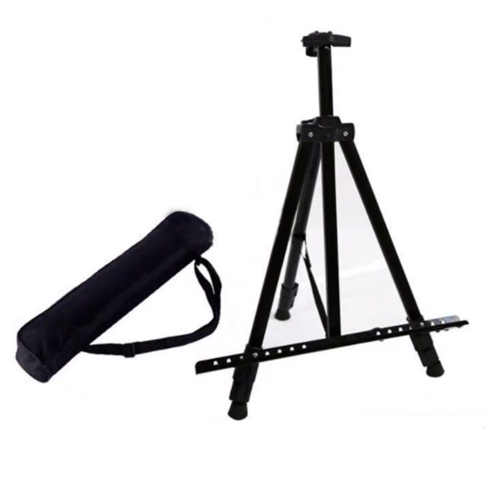 Portable Adjustable Metal Sketch Easel Stand Foldable Travel Easel Aluminum Alloy Easel Sketch Drawing  Art Supplies
