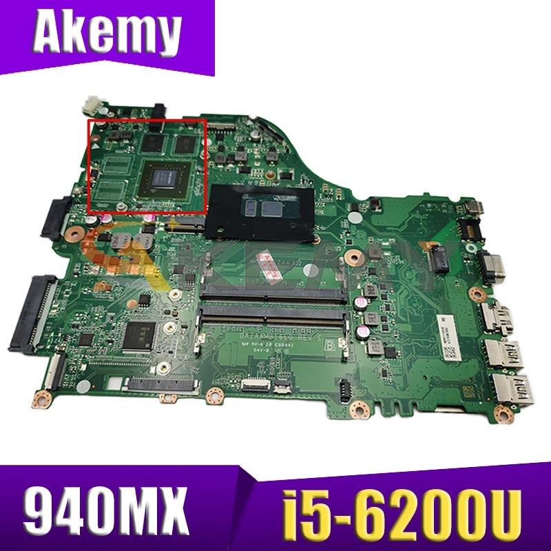 ZAA X32 Mainbord ل أيسر E5-575 F5-573 E5-575G اللوحة المحمول DAZAAMB16E0 NBGHG11046 CPU i5-6200U 940MX 100% ؟ بالكامل ؟ اختبار