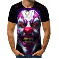 new fashion 3d printing smile mask o neck t shirt comfortable and loose sports short sleeved top xxs 6xl